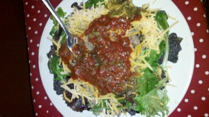 Turkey & Black Bean Nachos w/Blue Corn & Sesame Tortilla Chips by Bridget D. Webb