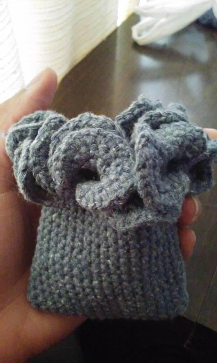 BridgeKnits™ Denim Crochet Change Purse/Lip Gloss Holder©