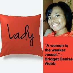 Lady Decorative Indoor Home Pillow©